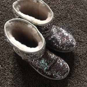 Sequin ugg boots